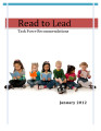 Wisconsin Read to Lead Task Force recommendations, Jan. 2012