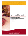 Annual report of the Professional Standards Council and Teacher Education, Professional...