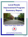 Summary report / Local Roads Improvement Program, state fiscal years 2006-2007