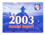 Annual report / Wisconsin Division of State Patrol (2003)