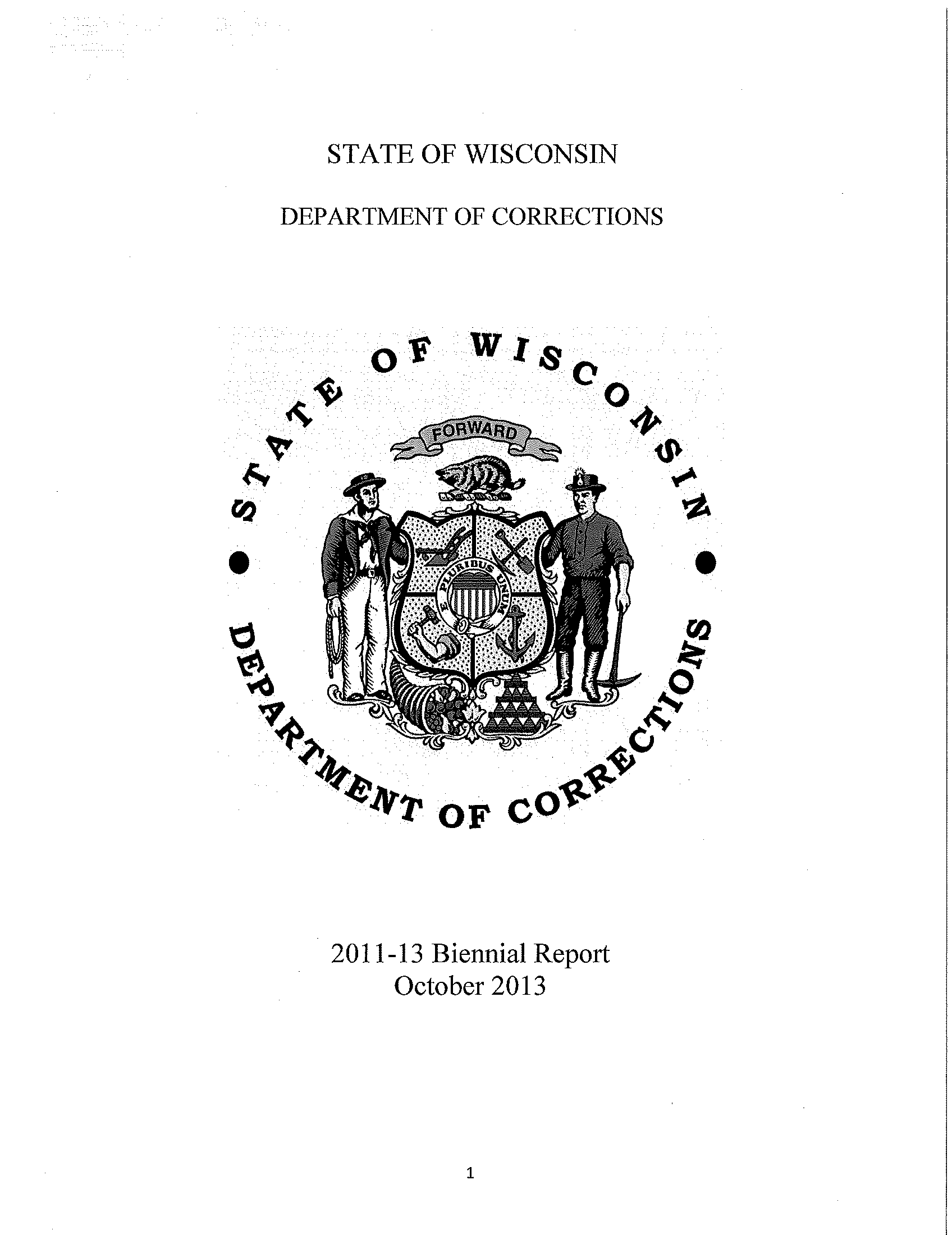 Biennial report / State of Wisconsin, Department of