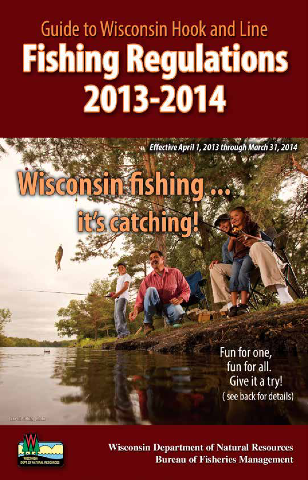 Guide to Wisconsin hook and line fishing regulations (2013